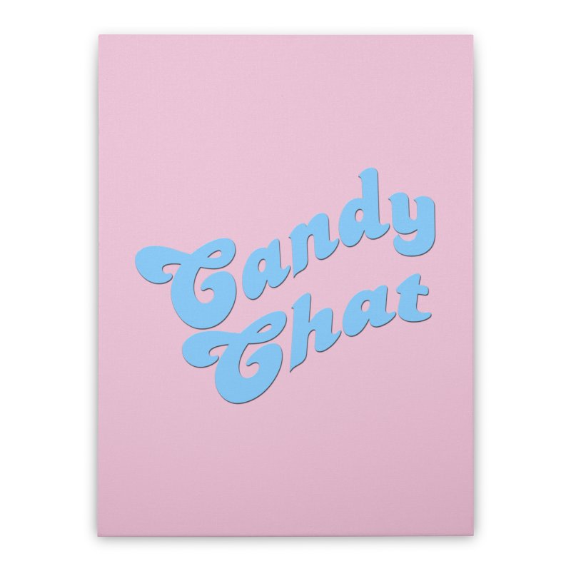 Candy Chat Logo Home Stretched Canvas by Blurry Photos's Artist Shop