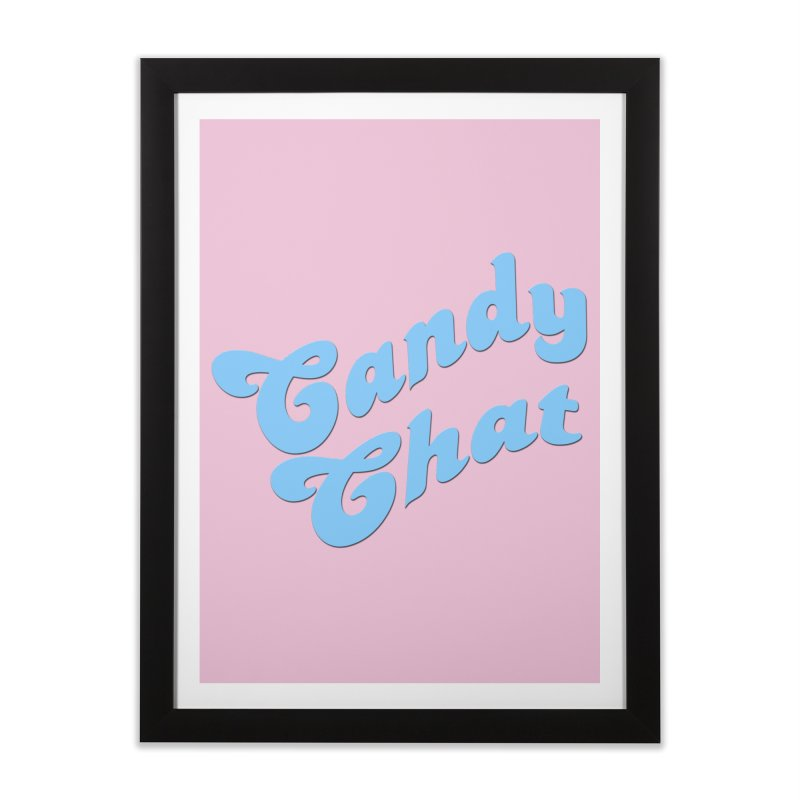 Candy Chat Logo Home Framed Fine Art Print by Blurry Photos's Artist Shop