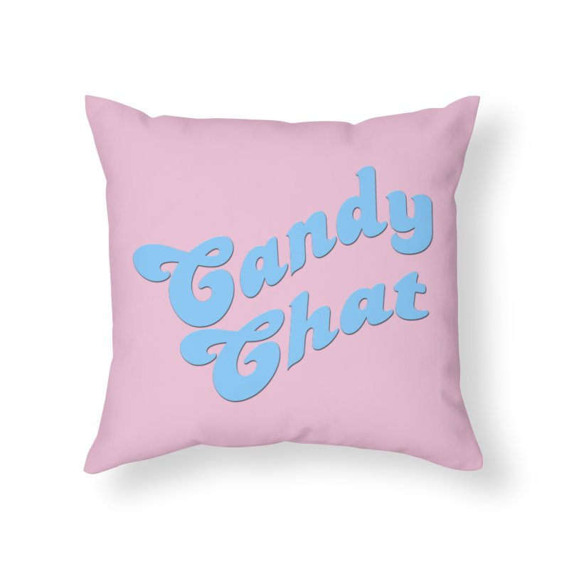 Candy Chat Logo Home Throw Pillow by Blurry Photos's Artist Shop