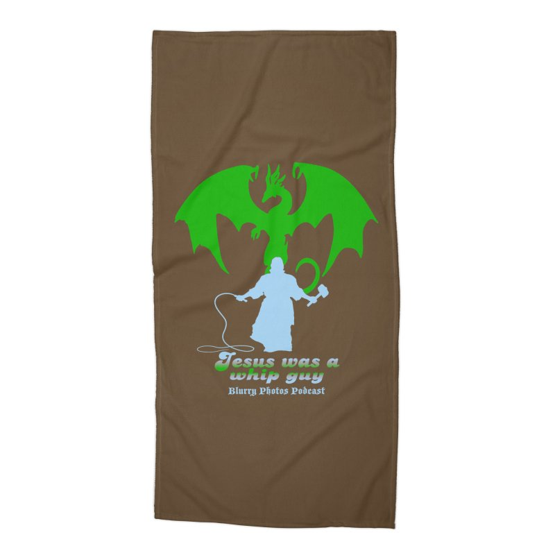 Jesus was a Whip Guy Accessories Beach Towel by Blurry Photos's Artist Shop
