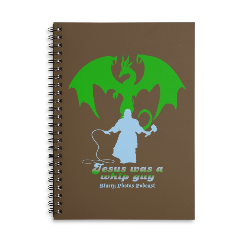 Jesus was a Whip Guy Accessories Lined Spiral Notebook by Blurry Photos's Artist Shop