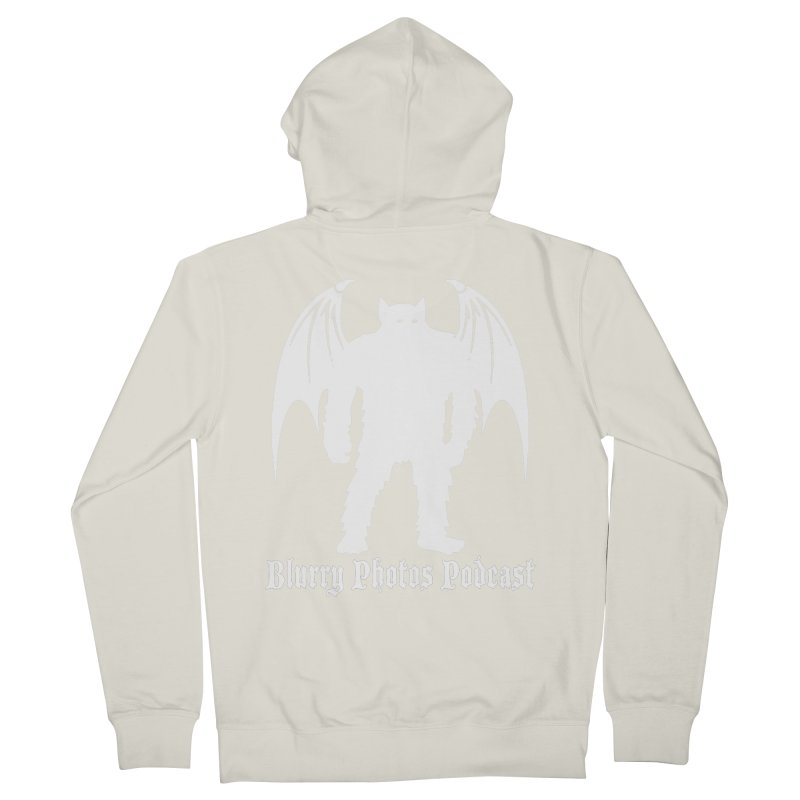 Batsquatch Men's French Terry Zip-Up Hoody by Blurry Photos's Artist Shop