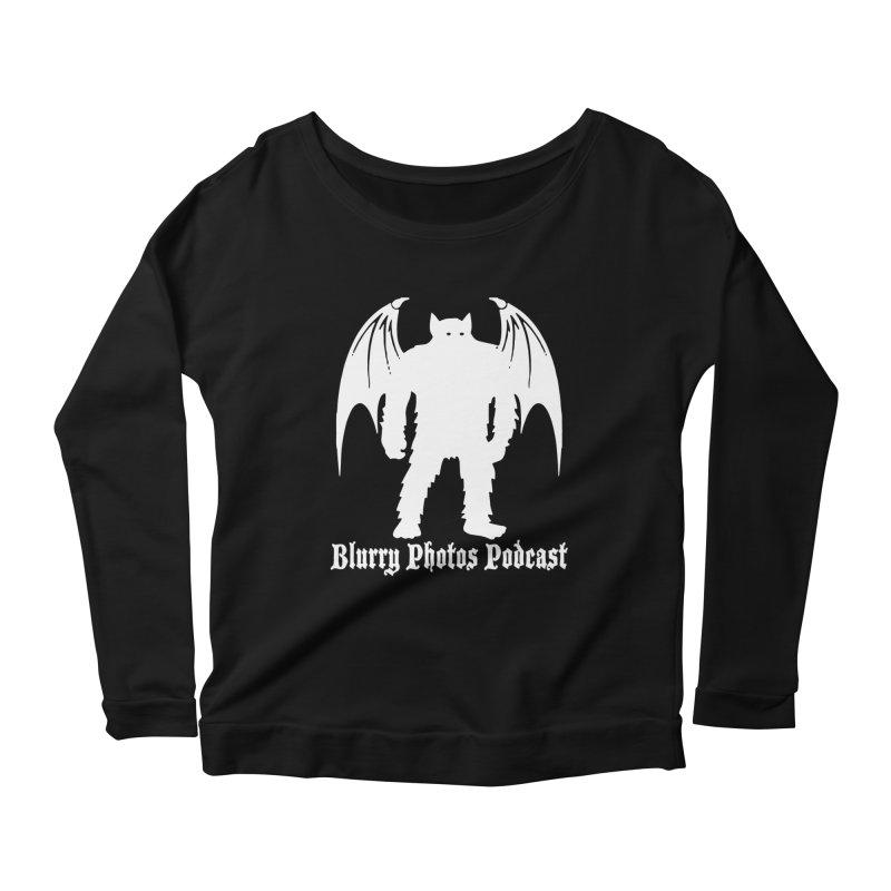 Batsquatch Women's Scoop Neck Longsleeve T-Shirt by Blurry Photos's Artist Shop