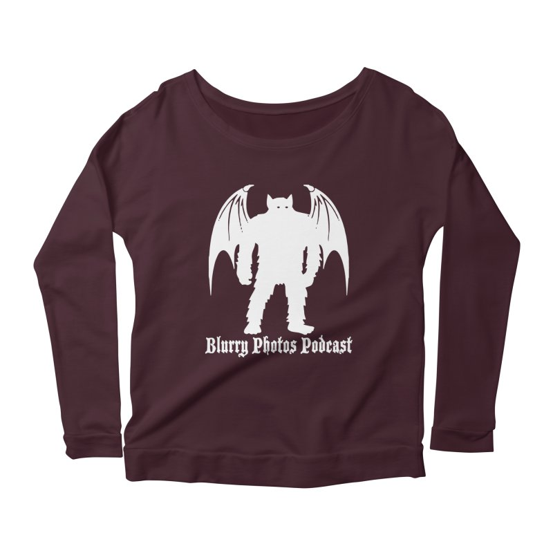 Batsquatch Women's Scoop Neck Longsleeve T-Shirt by Blurry Photos's Artist Shop