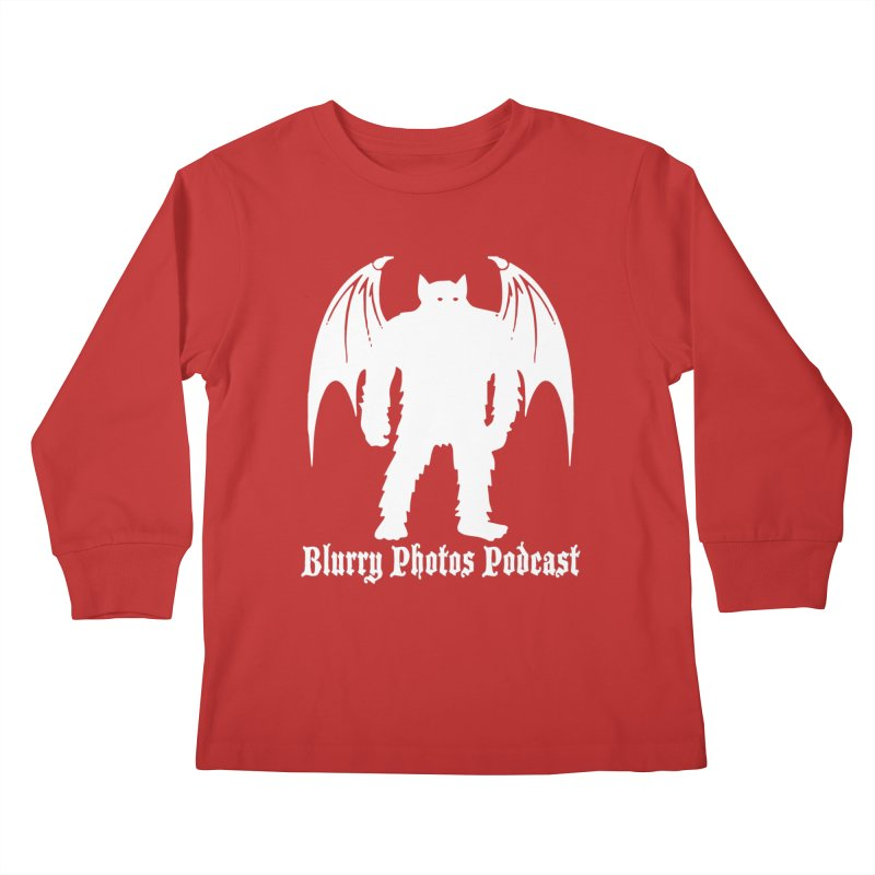 Batsquatch Kids Longsleeve T-Shirt by Blurry Photos's Artist Shop