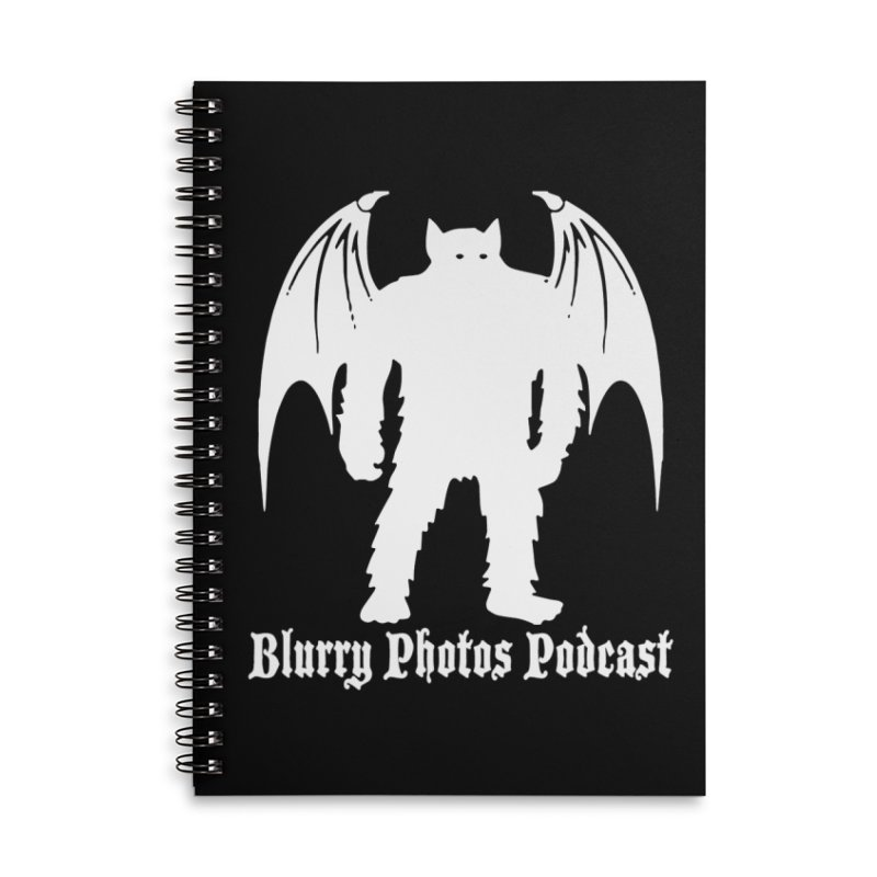 Batsquatch Accessories Lined Spiral Notebook by Blurry Photos's Artist Shop