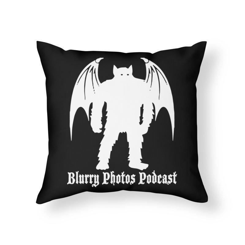 Batsquatch Home Throw Pillow by Blurry Photos's Artist Shop