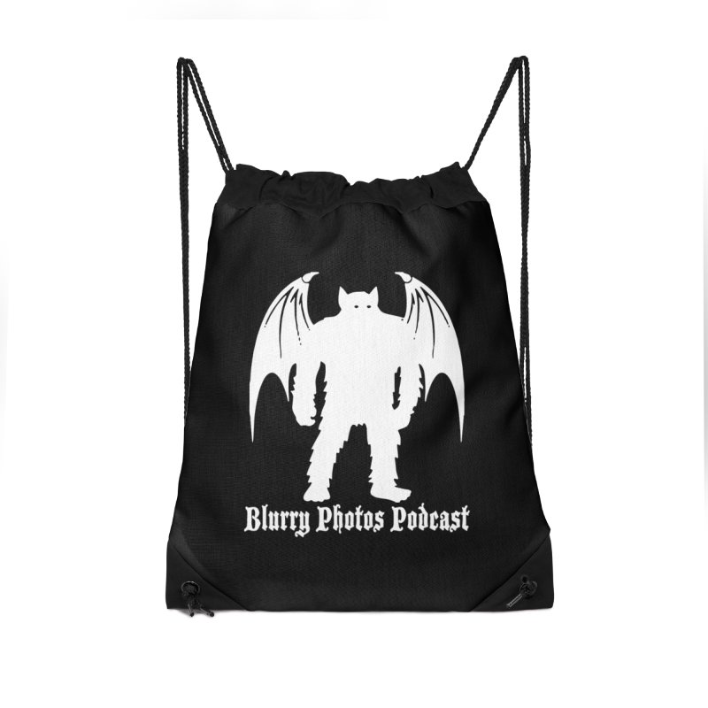 Batsquatch Accessories Drawstring Bag Bag by Blurry Photos's Artist Shop