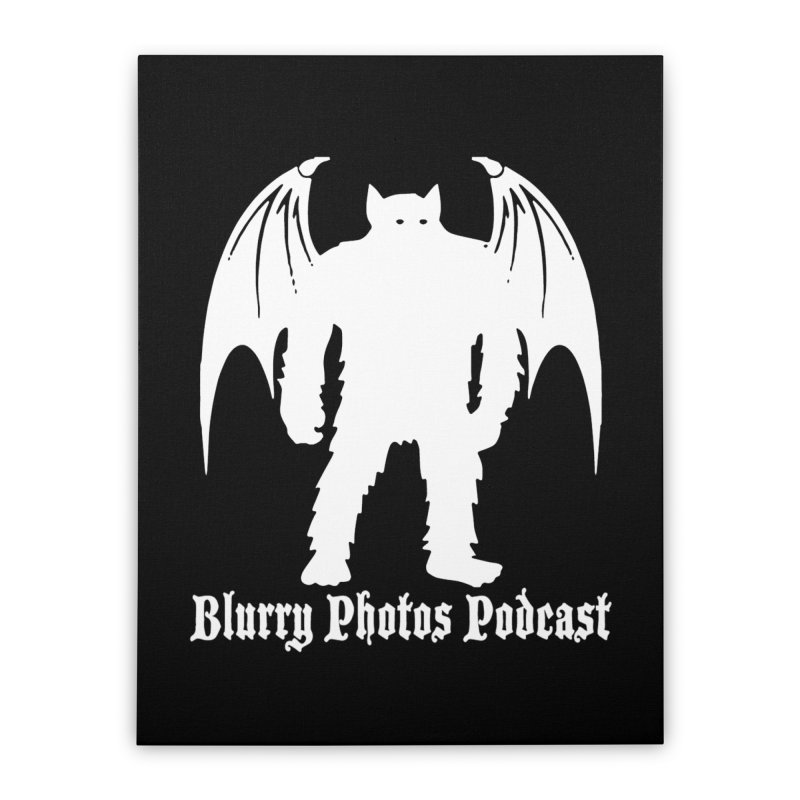 Batsquatch Home Stretched Canvas by Blurry Photos's Artist Shop