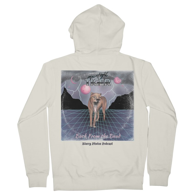 Moonlight Tiger Women's French Terry Zip-Up Hoody by Blurry Photos's Artist Shop
