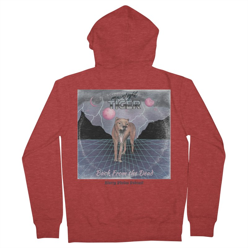 Moonlight Tiger Men's French Terry Zip-Up Hoody by Blurry Photos's Artist Shop