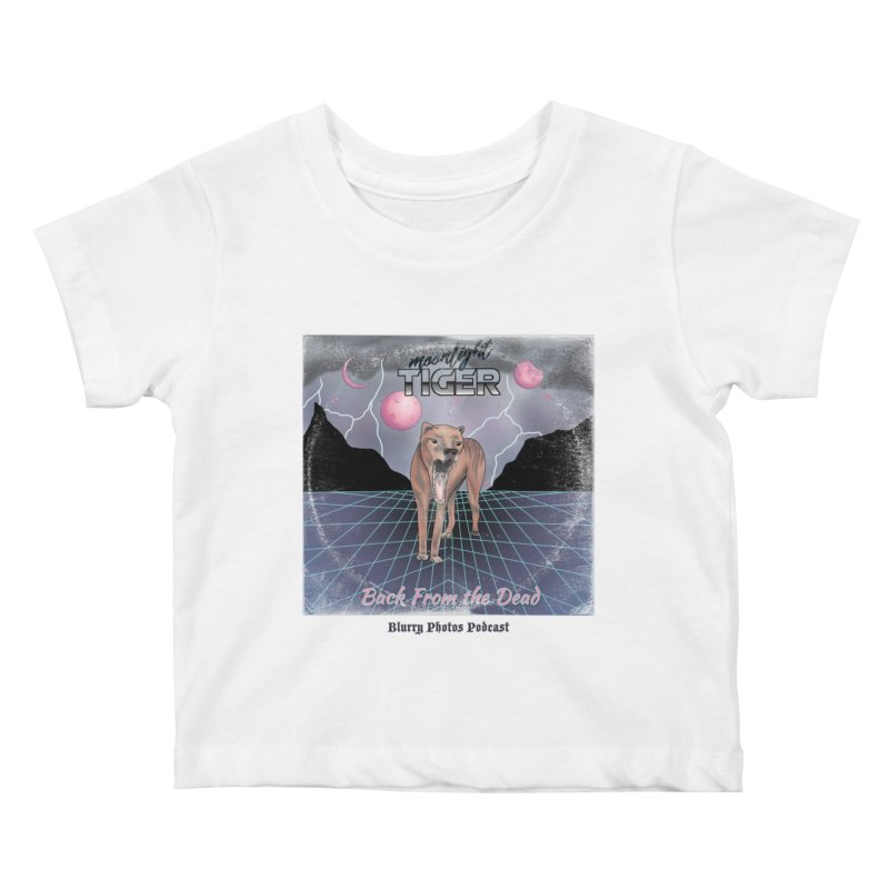 Moonlight Tiger Kids Baby T-Shirt by Blurry Photos's Artist Shop