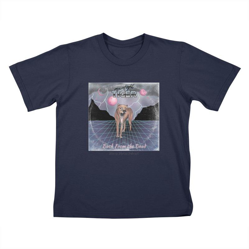Moonlight Tiger Kids T-Shirt by Blurry Photos's Artist Shop