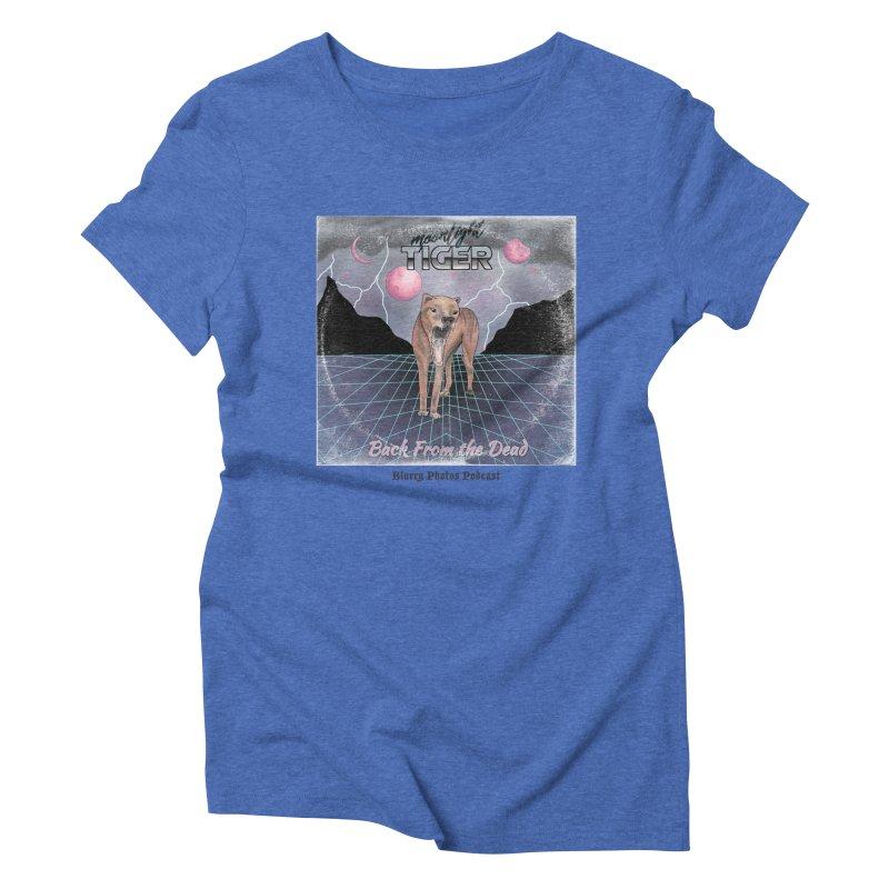 Moonlight Tiger Women's Triblend T-Shirt by Blurry Photos's Artist Shop