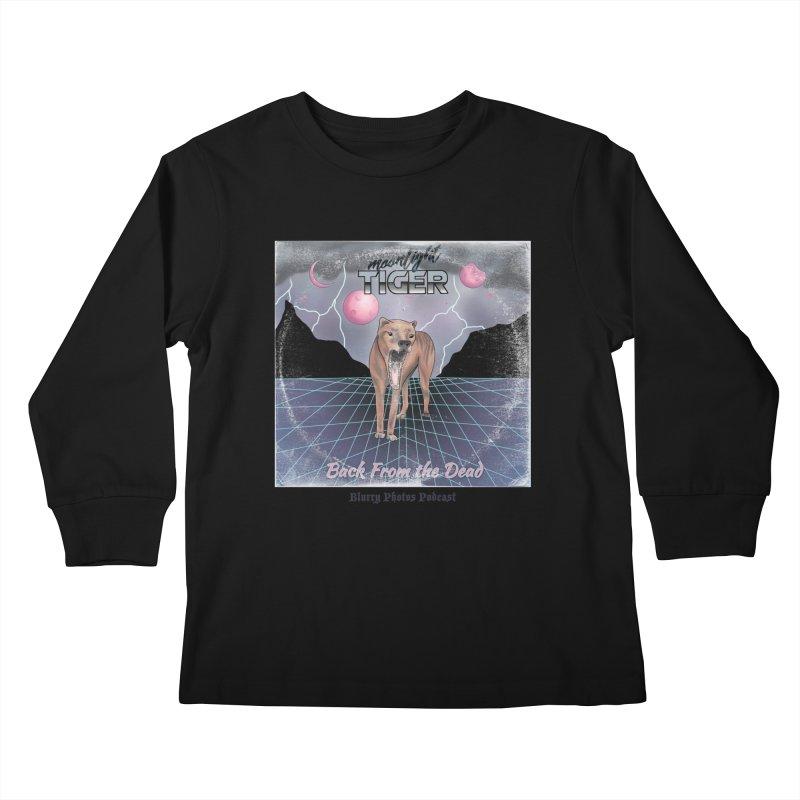 Moonlight Tiger Kids Longsleeve T-Shirt by Blurry Photos's Artist Shop