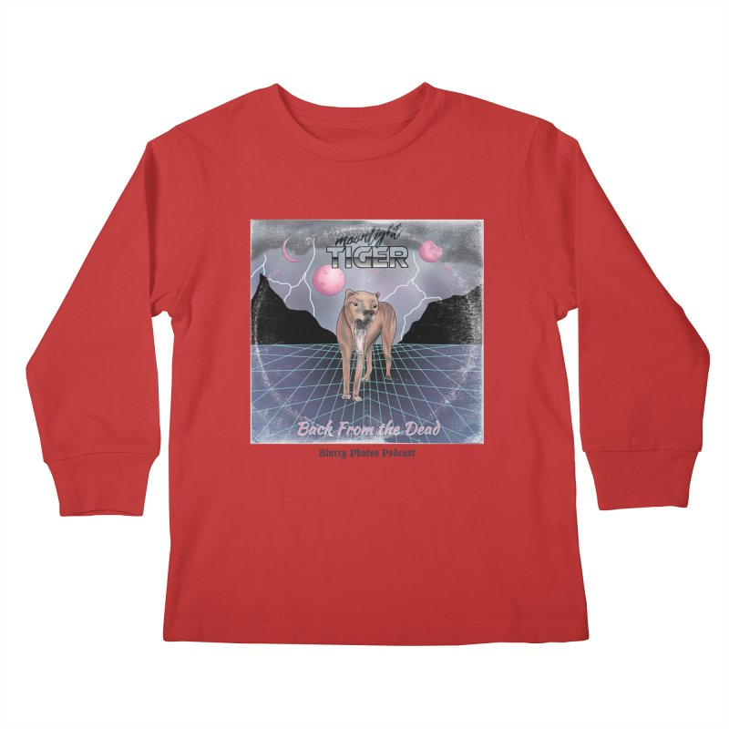 Moonlight Tiger Kids Longsleeve T-Shirt by Blurry Photos's Artist Shop