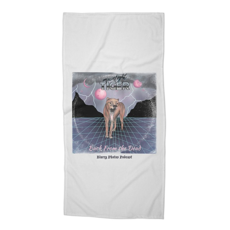 Moonlight Tiger Accessories Beach Towel by Blurry Photos's Artist Shop