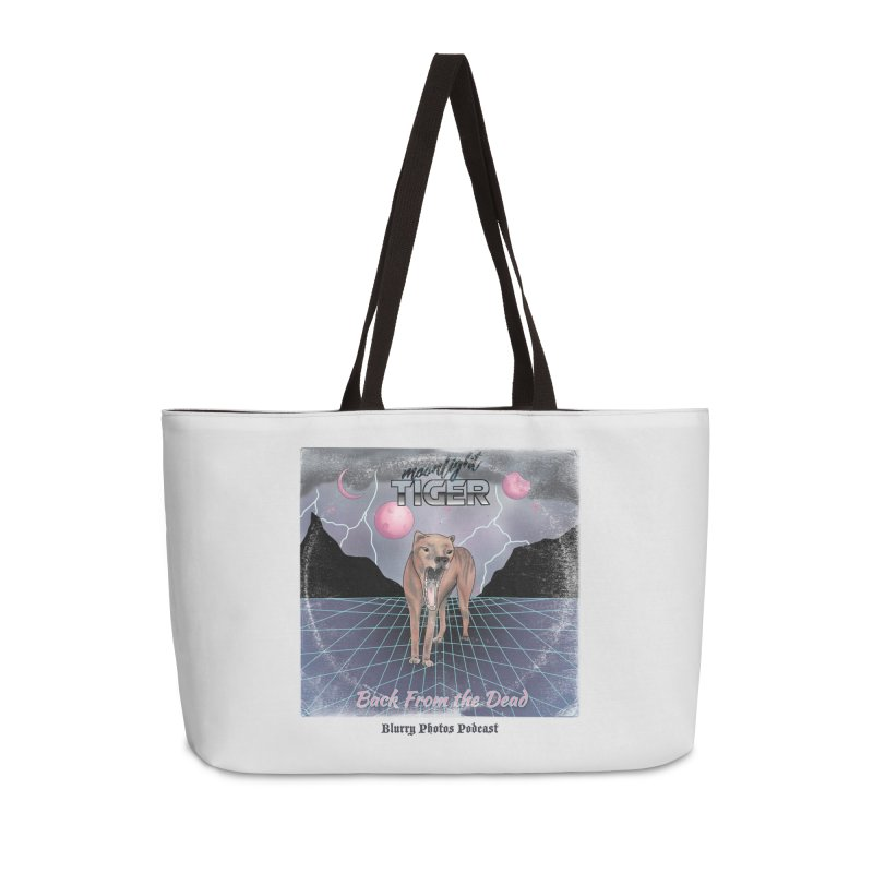 Moonlight Tiger Accessories Weekender Bag Bag by Blurry Photos's Artist Shop