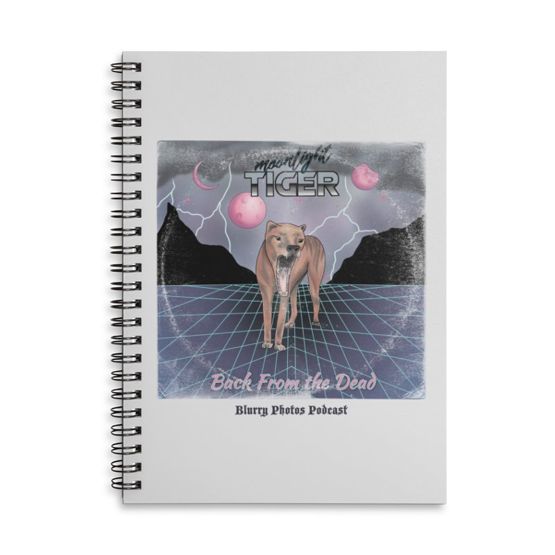 Moonlight Tiger Accessories Lined Spiral Notebook by Blurry Photos's Artist Shop