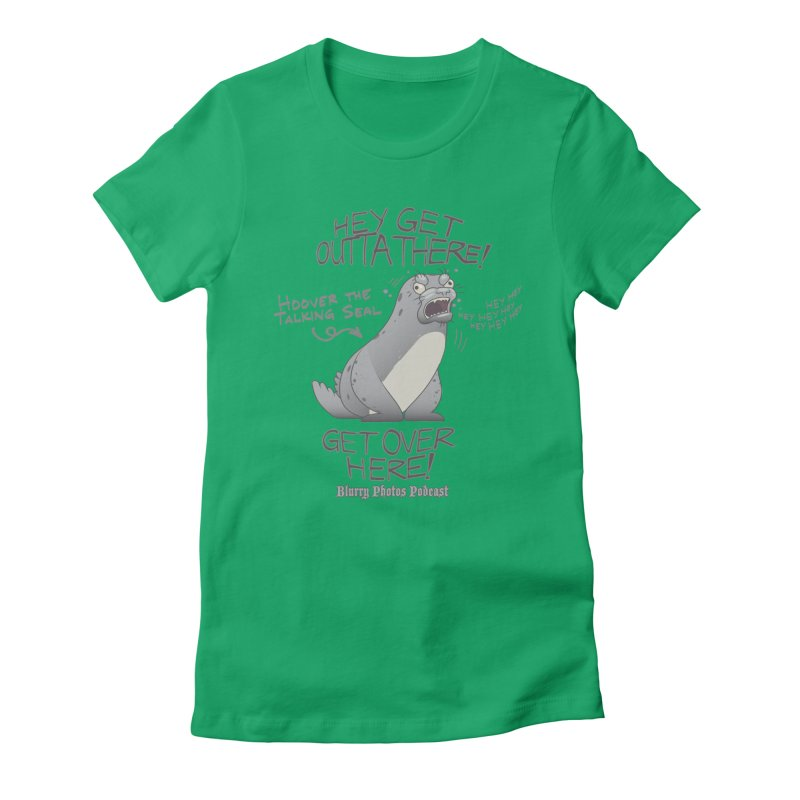 Hoover Women's Fitted T-Shirt by Blurry Photos's Artist Shop