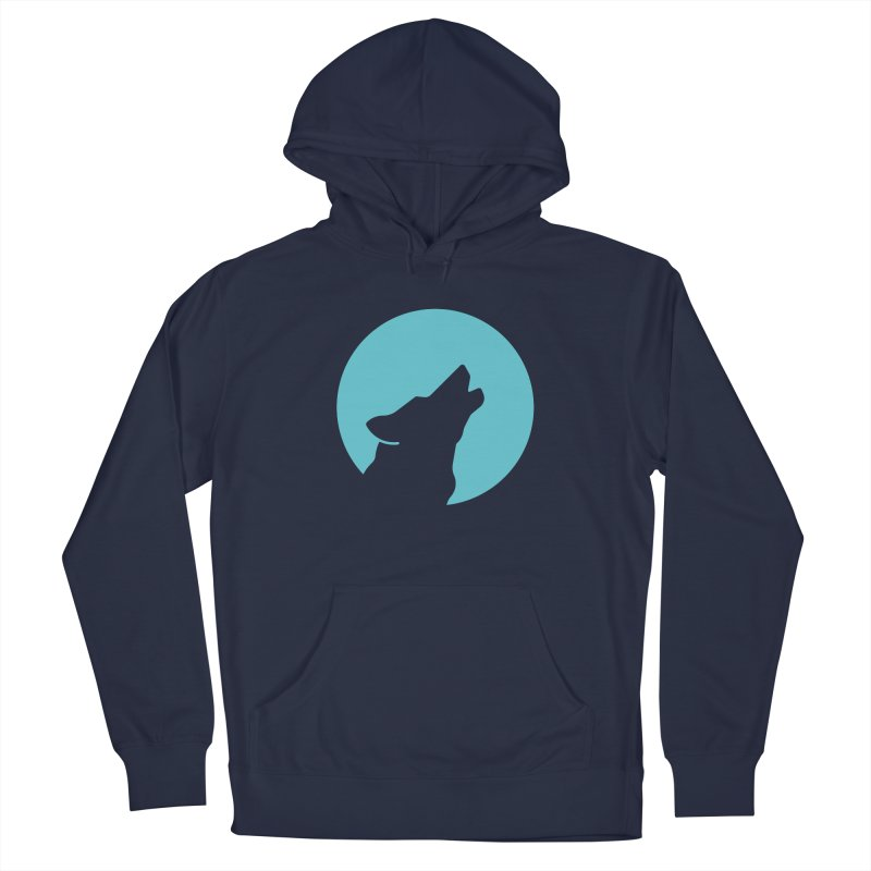 Howling Wolf Men's Pullover Hoody by BMaw's Artist Shop
