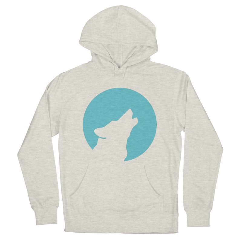 Howling Wolf Women's French Terry Pullover Hoody by BMaw's Artist Shop