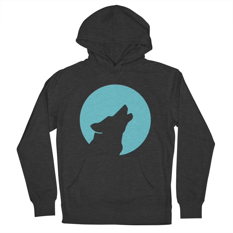 Howling Wolf Men's French Terry Pullover Hoody by BMaw's Artist Shop