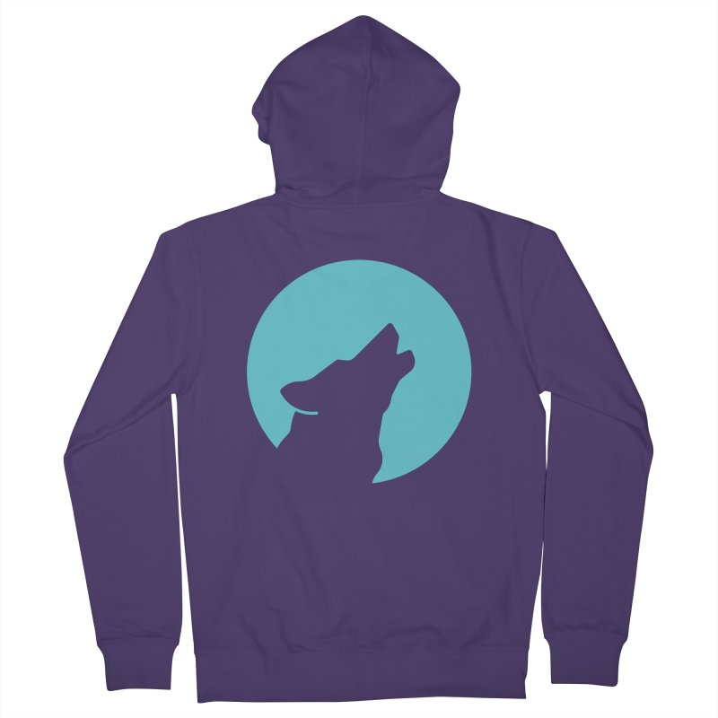 Howling Wolf Women's French Terry Zip-Up Hoody by BMaw's Artist Shop