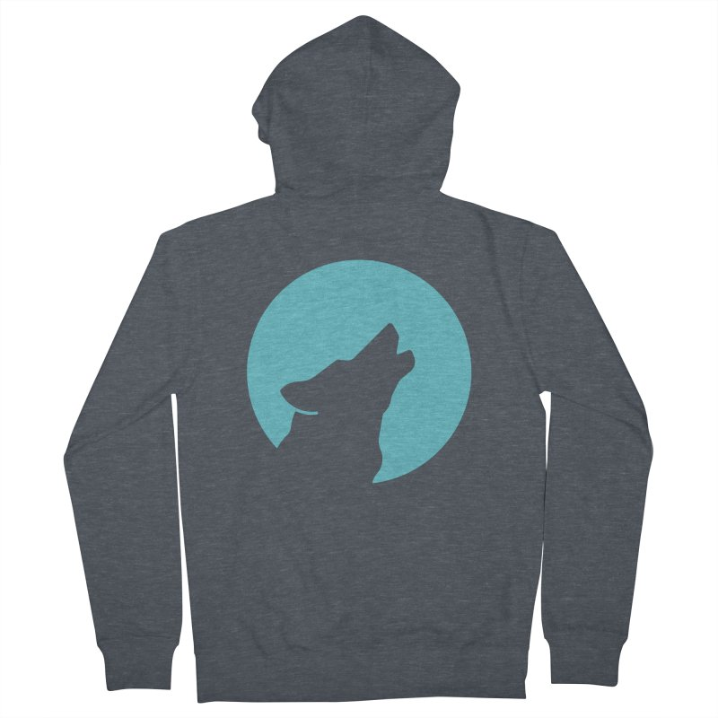 Howling Wolf Men's French Terry Zip-Up Hoody by BMaw's Artist Shop