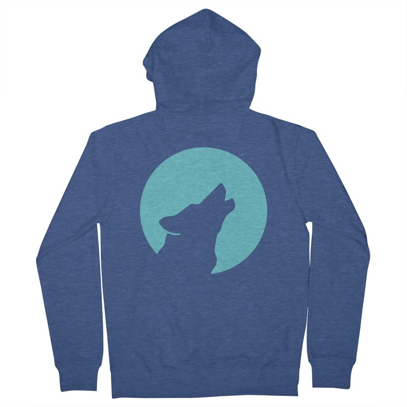 Howling Wolf Men's Zip-Up Hoody by BMaw's Artist Shop