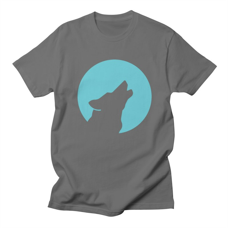Howling Wolf Men's T-Shirt by BMaw's Artist Shop