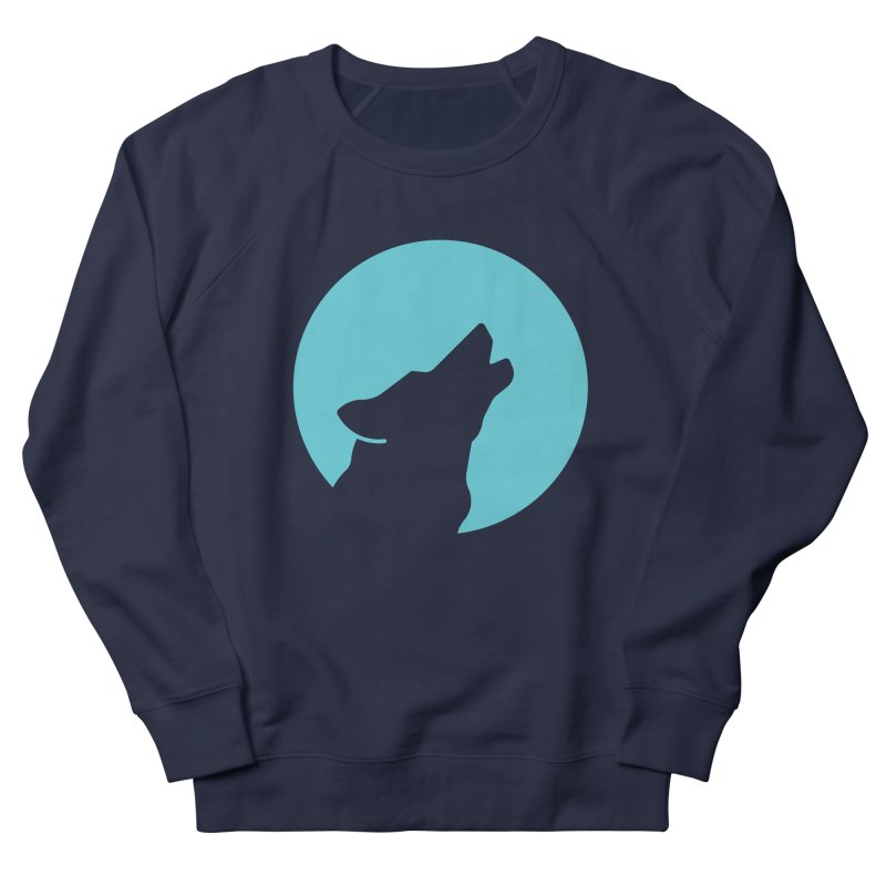 Howling Wolf Women's French Terry Sweatshirt by BMaw's Artist Shop
