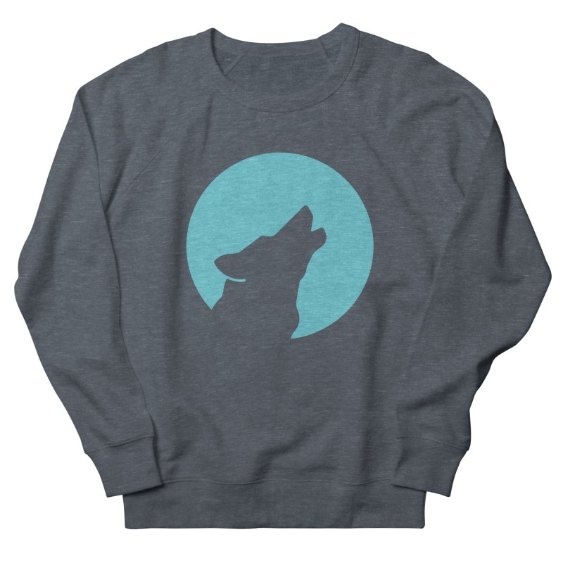 Howling Wolf Men's French Terry Sweatshirt by BMaw's Artist Shop