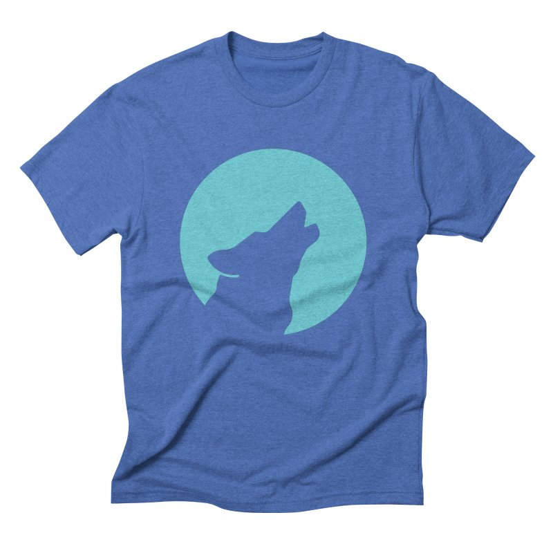Howling Wolf Men's T-Shirt by BMaw's Artist Shop