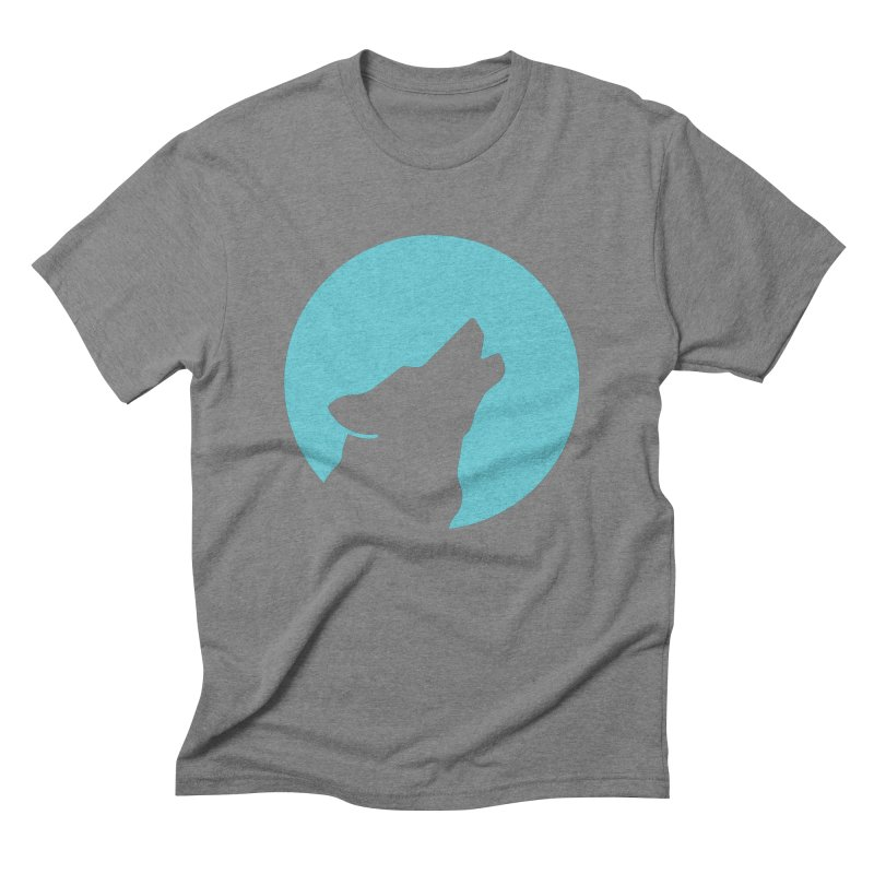 Howling Wolf Men's Triblend T-Shirt by BMaw's Artist Shop