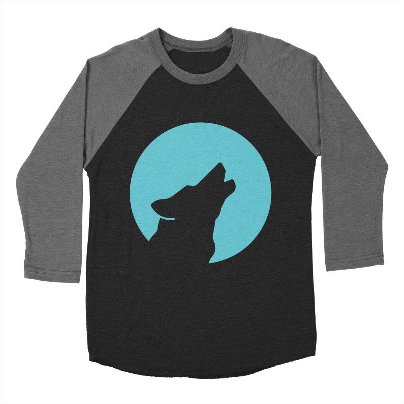 Howling Wolf Men's Baseball Triblend Longsleeve T-Shirt by BMaw's Artist Shop