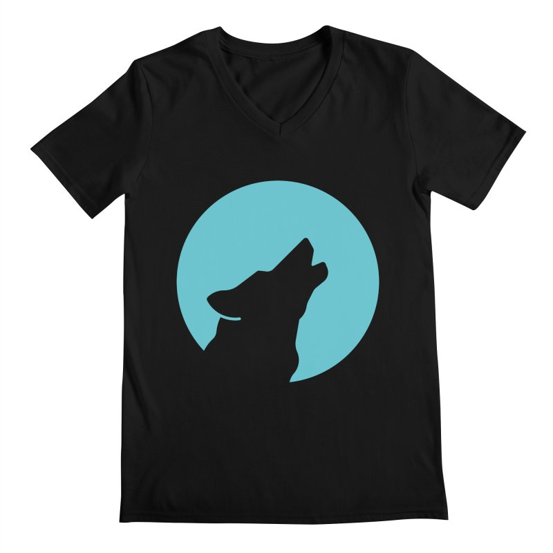 Howling Wolf Men's Regular V-Neck by BMaw's Artist Shop