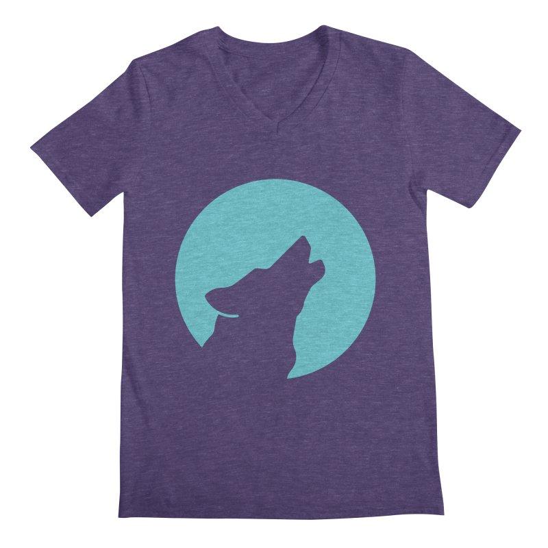 Howling Wolf Men's Regular V-Neck by BMaw's Artist Shop