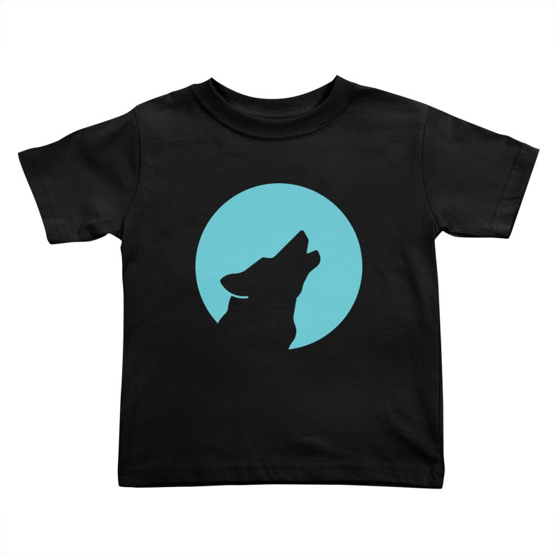 Howling Wolf Kids Toddler T-Shirt by BMaw's Artist Shop
