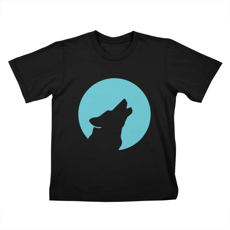Howling Wolf Kids T-Shirt by BMaw's Artist Shop