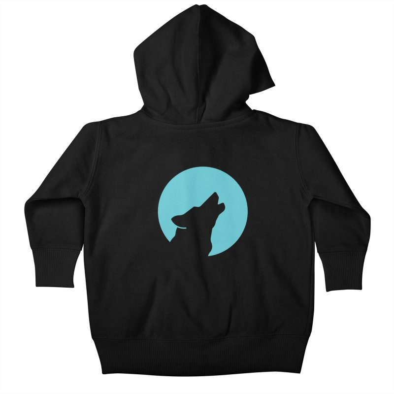 Howling Wolf Kids Baby Zip-Up Hoody by BMaw's Artist Shop