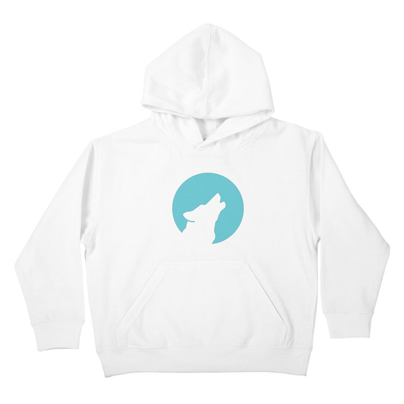 Howling Wolf Kids Pullover Hoody by BMaw's Artist Shop