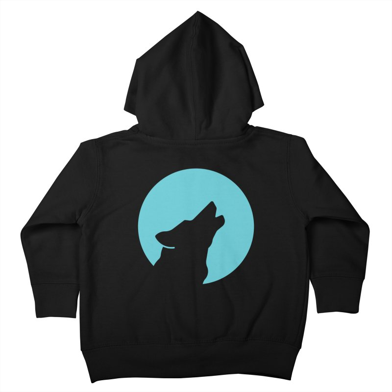 Howling Wolf Kids Toddler Zip-Up Hoody by BMaw's Artist Shop