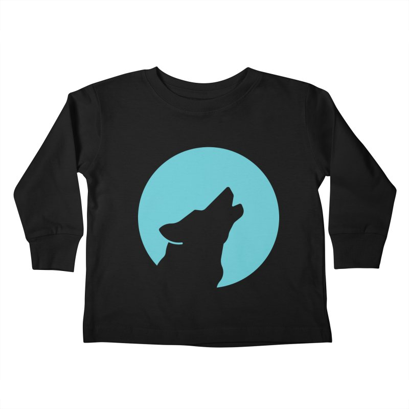 Howling Wolf Kids Toddler Longsleeve T-Shirt by BMaw's Artist Shop