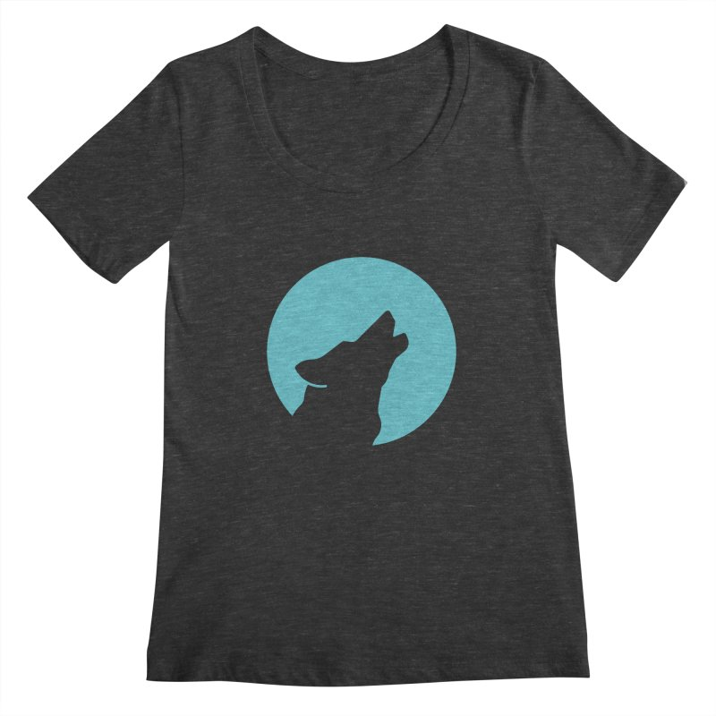 Howling Wolf Women's Scoopneck by BMaw's Artist Shop