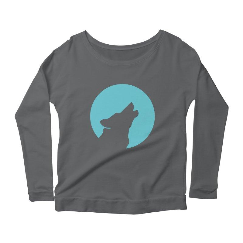 Howling Wolf Women's Longsleeve Scoopneck  by BMaw's Artist Shop
