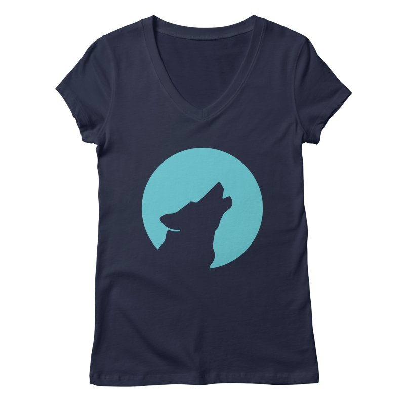 Howling Wolf Women's Regular V-Neck by BMaw's Artist Shop