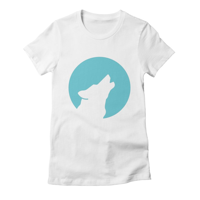 Howling Wolf Women's Fitted T-Shirt by BMaw's Artist Shop