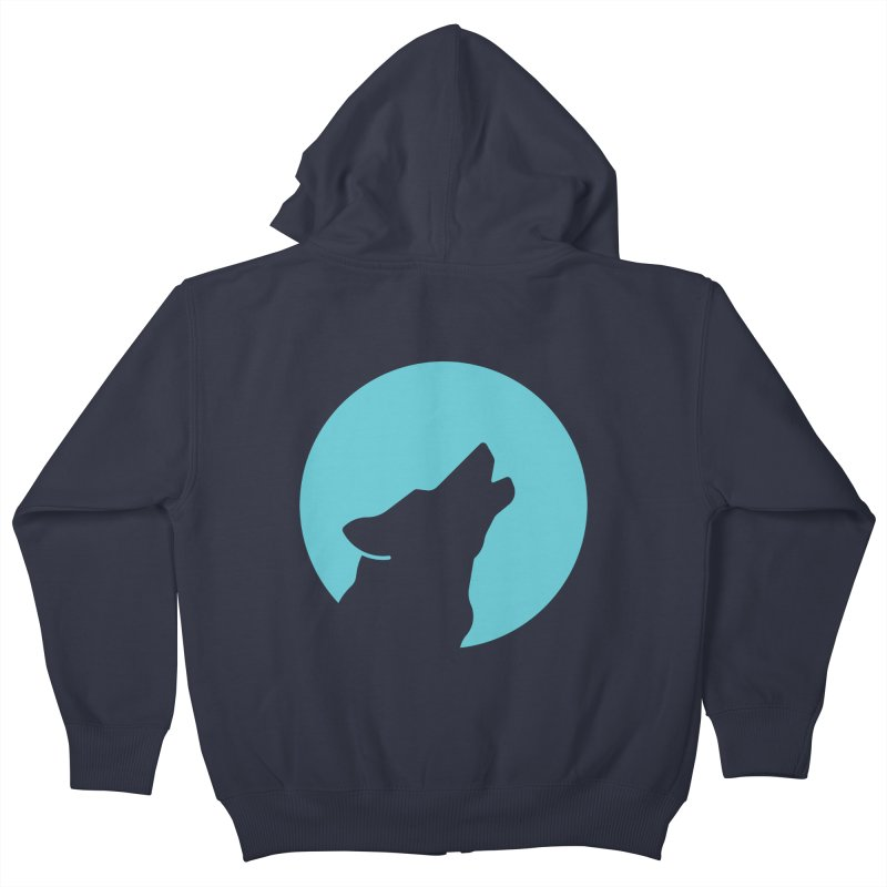 Howling Wolf Kids Zip-Up Hoody by BMaw's Artist Shop