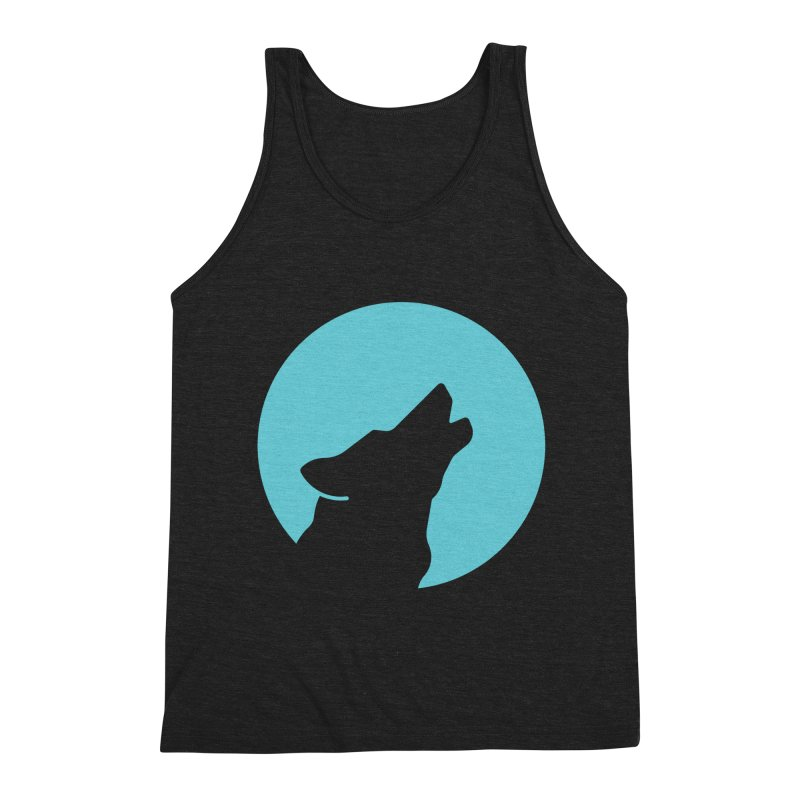 Howling Wolf Men's Triblend Tank by BMaw's Artist Shop
